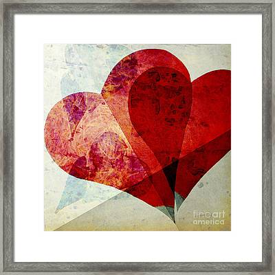 Hearts 5 Square Framed Print by Edward Fielding