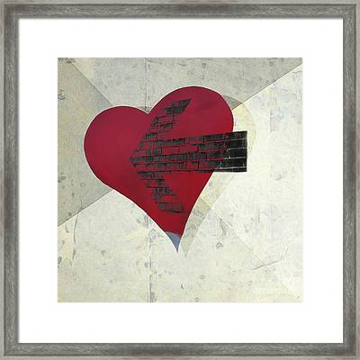 Hearts 7 Square Framed Print by Edward Fielding