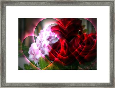 Hearts A Fire Framed Print