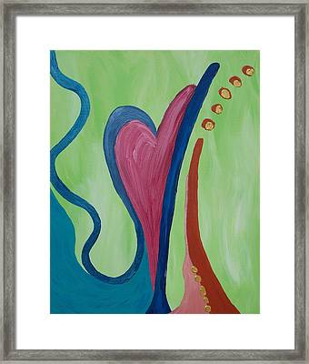 Hearts Ablaze Framed Print by Angela Vincenti