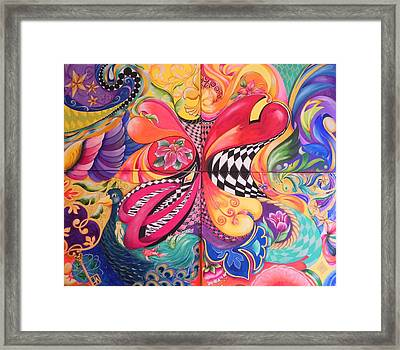 Heart's Abound Framed Print by Jill Alexander