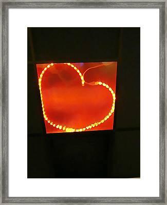 Hearts Afire Framed Print by Anne Sterling
