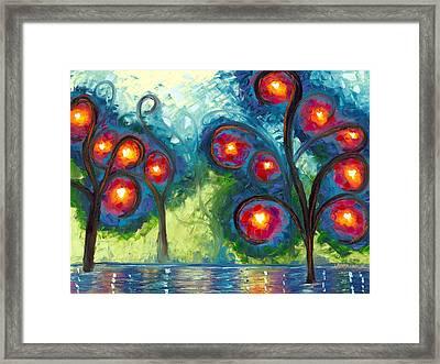 Hearts Afire Framed Print by Jessilyn Park