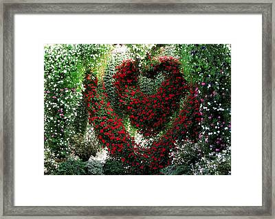 Framed Print featuring the photograph Hearts And Flowers by Jennifer Wheatley Wolf