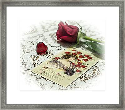 Hearts And More Hearts Framed Print
