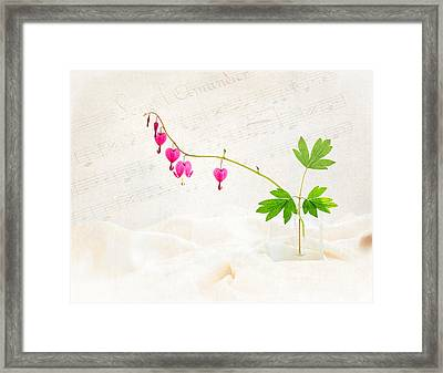 Hearts And Music Framed Print by Sarah-fiona  Helme