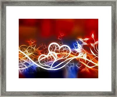 Hearts Framed Print by Ann Croon