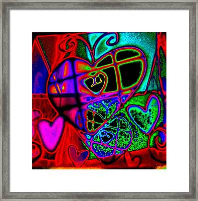 Hearts Desire Framed Print by Rebecca Flaig
