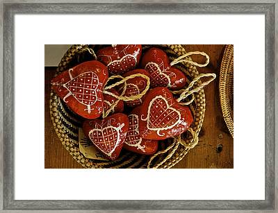 Hearts For Haiti  Framed Print by Brynn Ditsche