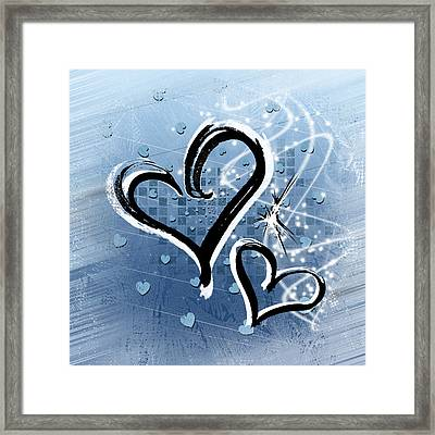 Hearts For Hearts 14 Framed Print by Melissa Smith