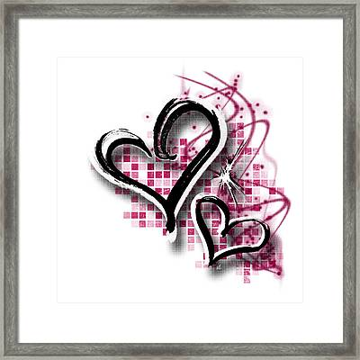 Hearts For Hearts 19 Framed Print by Melissa Smith
