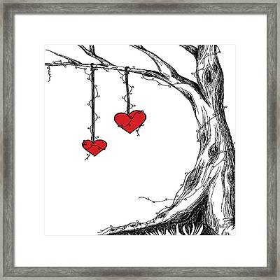 Hearts For Hearts 22 Framed Print