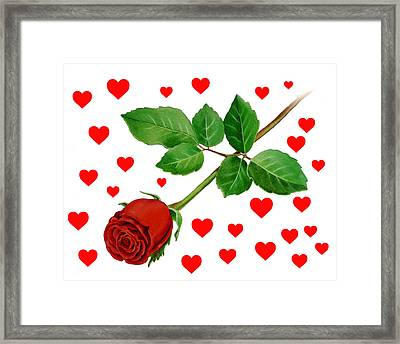 Hearts For Valentine Framed Print