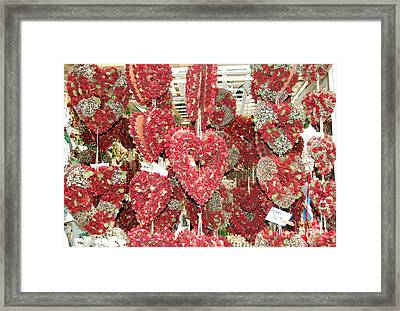 Heart's Full Of Flowers Framed Print
