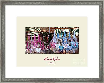 Hearts Galore Framed Print