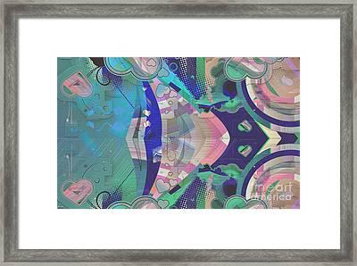 Hearts Gone Wild Framed Print by Liane Wright