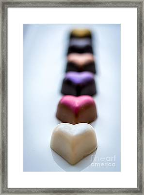 Hearts In A Row - By Sabine Edrissi Framed Print