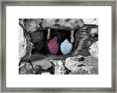 Hearts In Malachi Valentine Version Framed Print