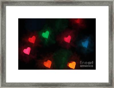 Hearts Of Color Framed Print by Darren Fisher
