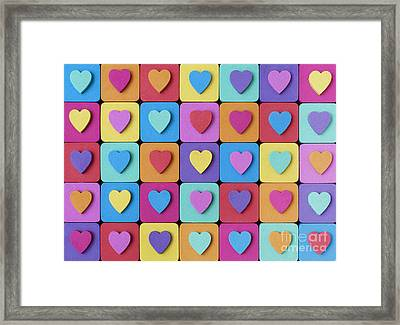 Hearts Of Colour Framed Print by Tim Gainey