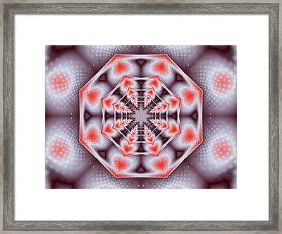 Hearts Of The Dharma Wheel Framed Print