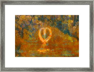 Hearts On Fire Framed Print by Dan Sproul