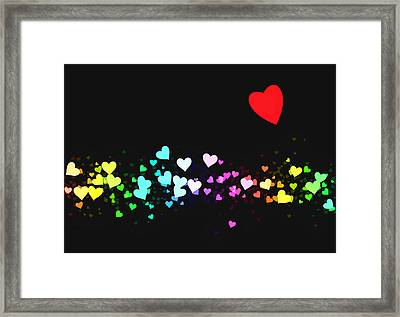 Hearts Trail Framed Print by Daniel Hagerman