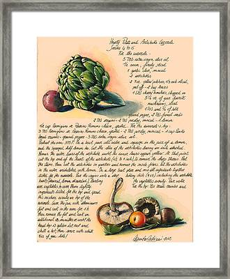 Hearty Casserole Framed Print by Alessandra Andrisani