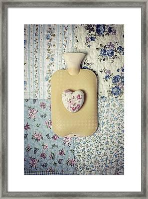 Hearty Hot-water Bottle Framed Print