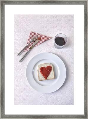 Hearty Toast Framed Print by Joana Kruse
