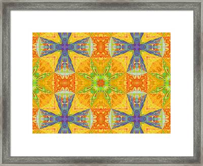 Heat Wave Abstract Design Framed Print