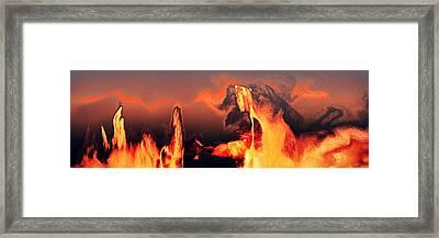 Heated Activity Framed Print