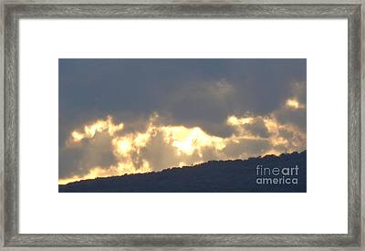 Framed Print featuring the photograph Heated Drama 1of3 by Christina Verdgeline
