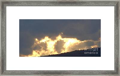 Framed Print featuring the photograph Heated Drama 2of3 by Christina Verdgeline