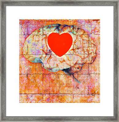 Heath Brain Framed Print by George Mattei