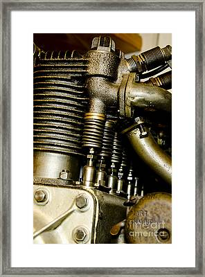 Heath-henderson Motorcycle Engine Framed Print