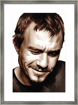 Heath Ledger Artwork Framed Print