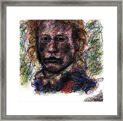 Heath Ledger As Gabriel Martin - The Patriot Framed Print by Rachel Scott