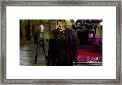 Heath Ledger Framed Print by Marvin Blaine