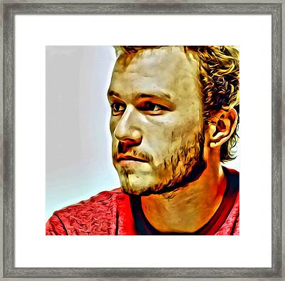 Heath Ledger Portrait Framed Print