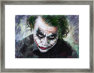 Heath Ledger The Dark Knight Framed Print