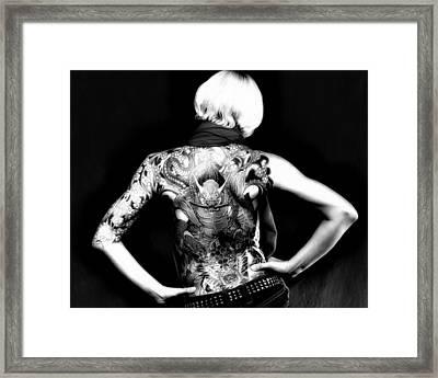 Heather The Tatooed Lady Framed Print by Robert  FERD Frank