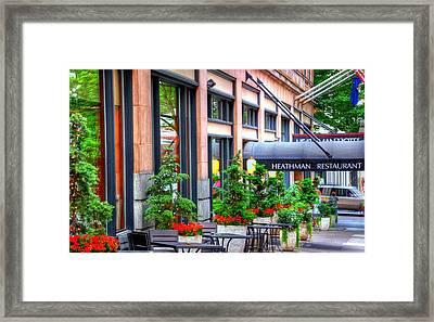 Heathman Restaurant 17368 Framed Print