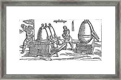 Heating And Distilling Mercury Framed Print