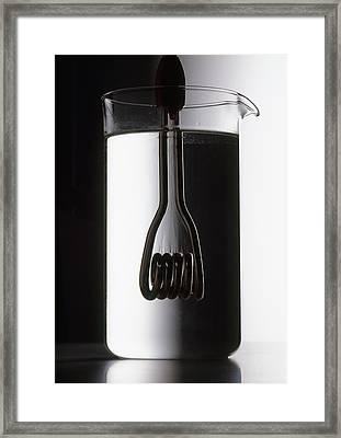 Heating Element Inside Beaker Framed Print