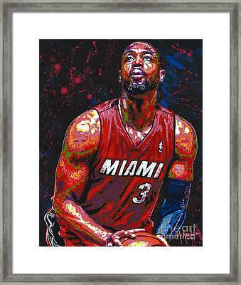 Dwyane Tyrone Wade Jr. Framed Print by Maria Arango