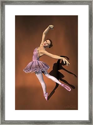 Heaven - Ballerina Portrait Framed Print by Alfred Price