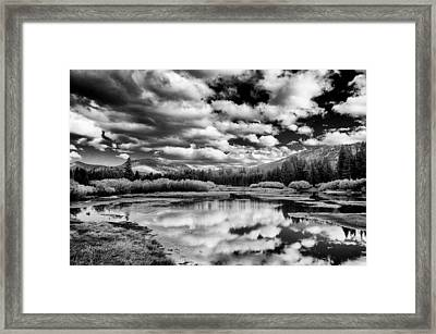 Heaven And Earth Framed Print by Cat Connor