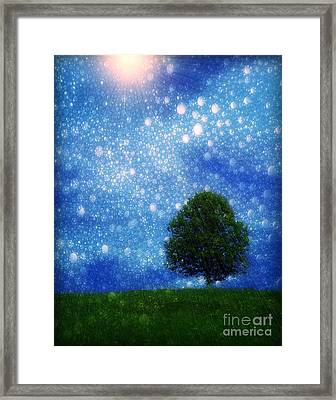 Heaven And Earth Framed Print by Rory Sagner