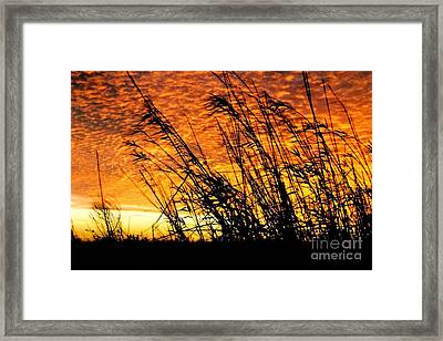 Sunset Heaven And Hell In Beaumont Texas Framed Print
